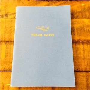 Travel Notes Blue Notebook